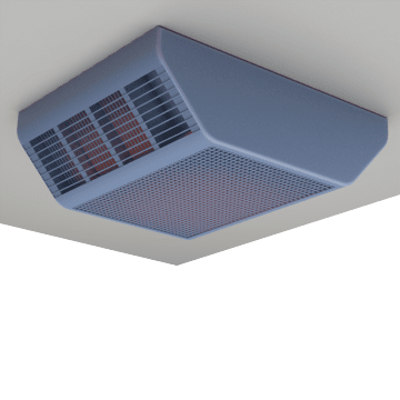 Ceiling Mount Fan Forced Electric Heaters