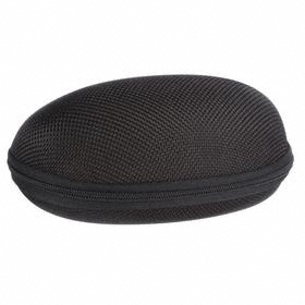 Eyewear Case: Zipper, Nylon, Black