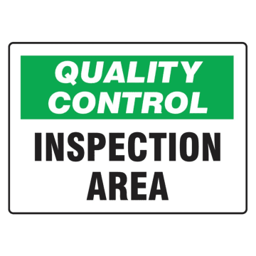 Quality Control Inspection Area