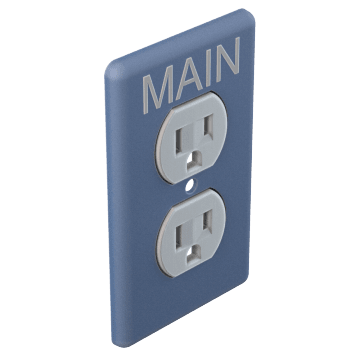 Duplex Outlet Wall Plates with Legend