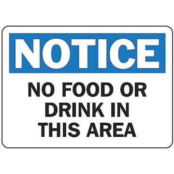 Notice No Food or Drink in This Area