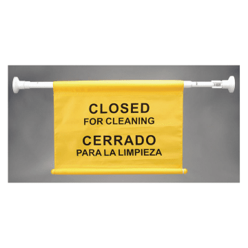 Bilingual Closed for Cleaning