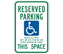 Reserved Parking Vehicles with Vet or Dis Plates or State Disabled Card