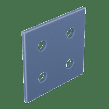 End Caps for Quad-Profile Extrusions