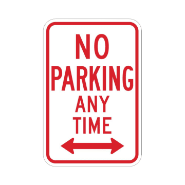 No Parking Any Time (Double Arrow)