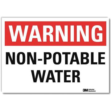 Warning Non Potable Water