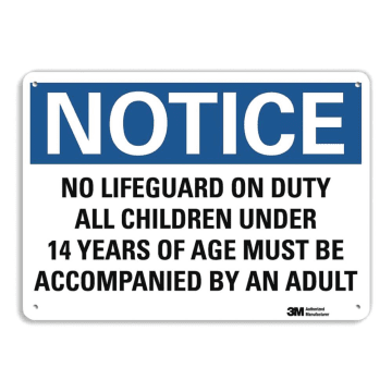 Notice No Lifeguard On Duty