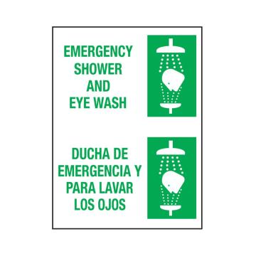 Bilingual Emergency Shower and Eye Wash