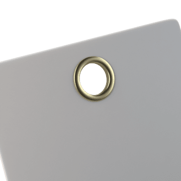With Brass Grommet