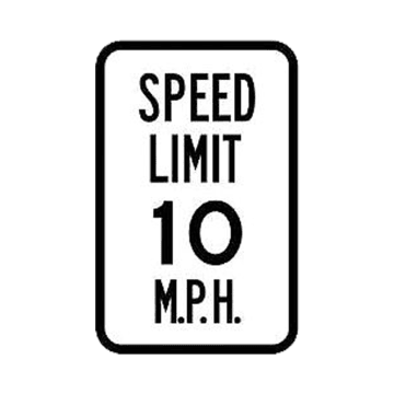 Speed Limit 10 MPH