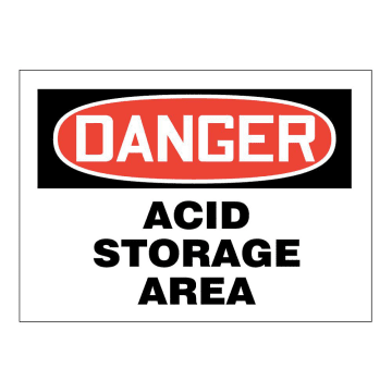 Danger Acid Storage Area