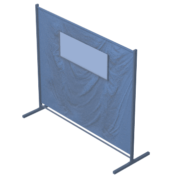 Quick-Snap Modular Screens with Weld-Viewing Window