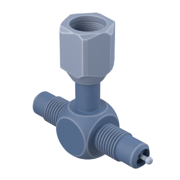 "1/4"" Access Valve Tee with Flare Nut"