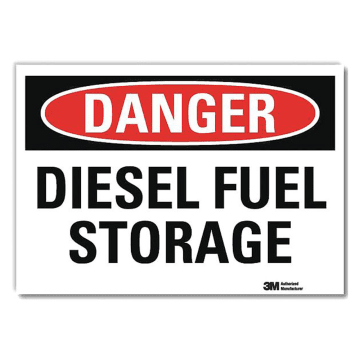 Danger Diesel Fuel Storage