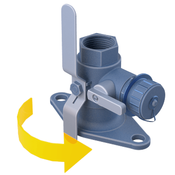 Rotating Flanged Ball Valves with Drain