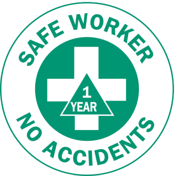 Safe Worker No Accidents 1 Year