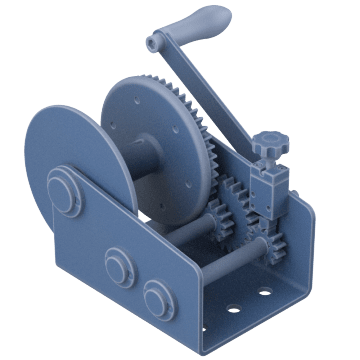 Precise-Control Worm-Gear for Pulling