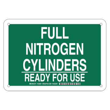 Full Nitrogen Cylinders Ready for Use