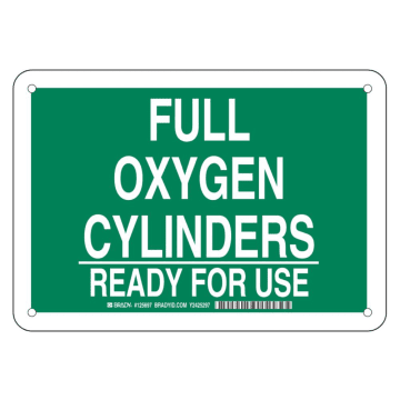 Full Oxygen Cylinders Ready for Use