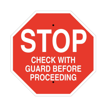 Notice Stop Check with Guard Before Proceeding