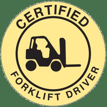 Certified Forklift Driver
