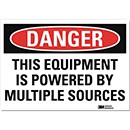 Danger This Equipment is Powered By Multiple Sources