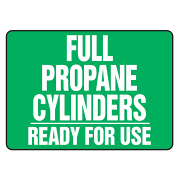 Full Propane Cylinders Ready for Use