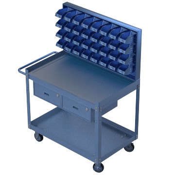 Mobile Workstations with Plastic Bins