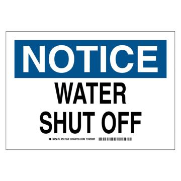 Notice Water Shut Off