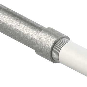 Galvanized Rigid Steel Conduit (GRC) with Integrated Coupling