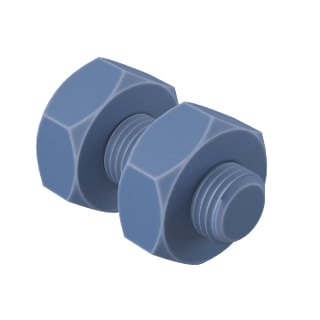 With Hex Nuts