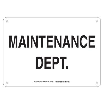 Maintenance Dept