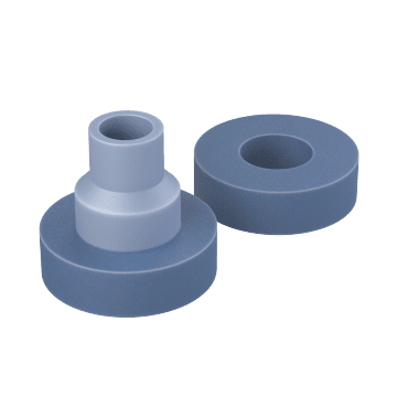 Two-Piece Center Bonded Mounts
