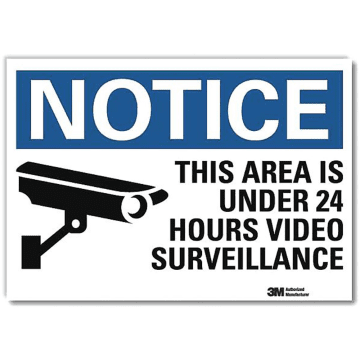 Notice This Area is Under 24 Hours Video Surveillance