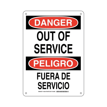 Bilingual Danger Out Of Service