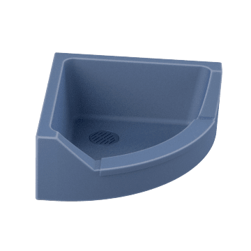 Corner Sink with Front Drop