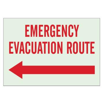 Emergency Evacuation Route (Left Arrow)