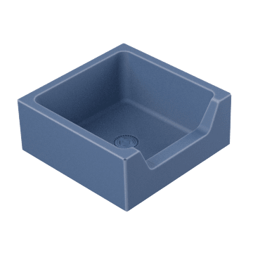 Square Sink with Front Drop