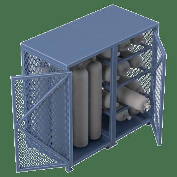 Combination Horizontal & Vertical Storage