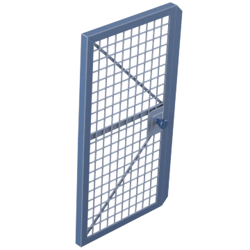 Modular Machine Guard System Doors