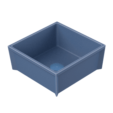 Square Sink with No Drop