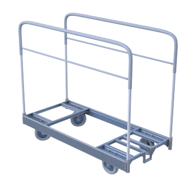 Vertical Rail-Frame for Round Panels