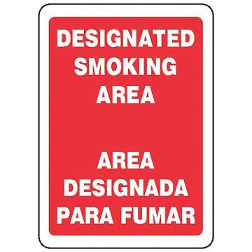 Bilingual Designated Smoking Area