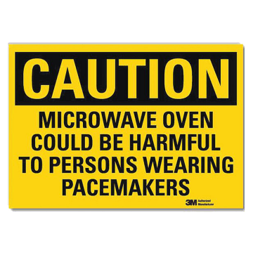 Caution Microwave Oven Could Be Harmful to Persons Wearing Pacemaker