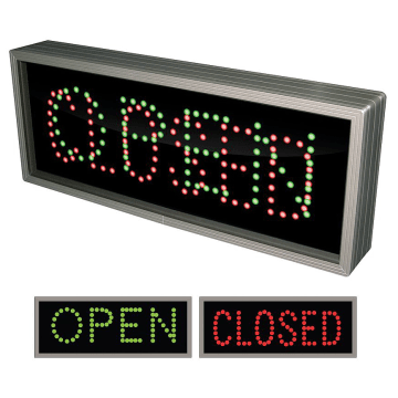 Closed LED Parking Signs