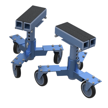 Frame-Clamp Vehicle Dollies