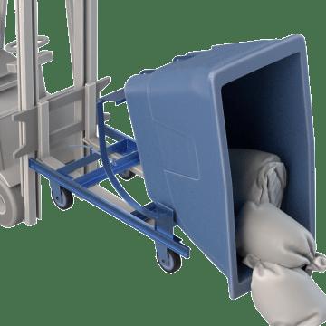 Self-Dumping Forkliftable