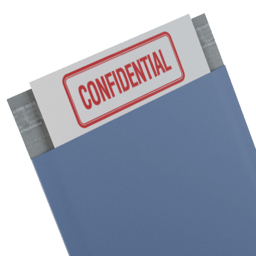 Lined For Document Confidentiality