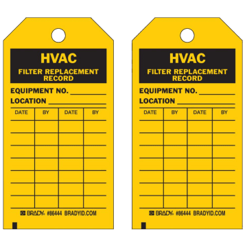 HVAC Filter Replacement Record