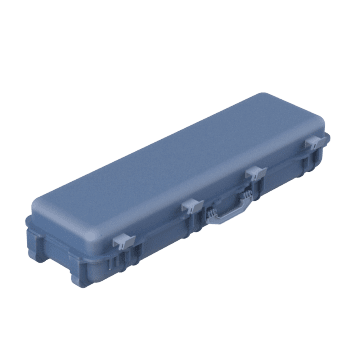 Wheeled Rectangular Cases with Two Handles